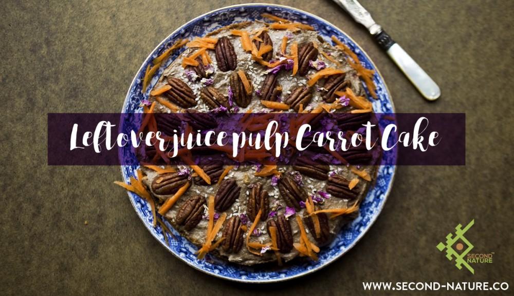 Leftover Juice Pulp Carrot Cake Recipe