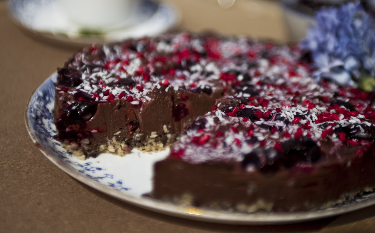 Dairy Free, Gluten Free, Raw Cherry and Chocolate Cake