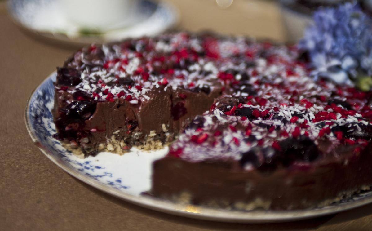 Dairy Free, Gluten Free, Raw Cherry and Chocolate Cake
