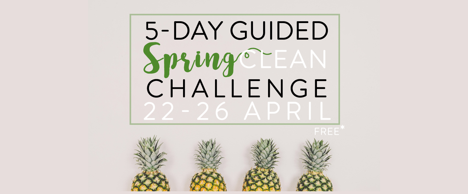 Free 5-Day Spring Clean Challenge