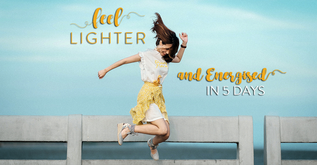 Feel Lighter and Energised in 5 Days Challenge